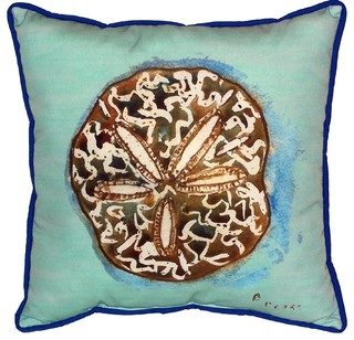 Throw Pillows Dollar General : Sand Dollar in Teal Indoor/Outdoor Decorative Pillow - Beach Style - Decorative Pillows - by ...