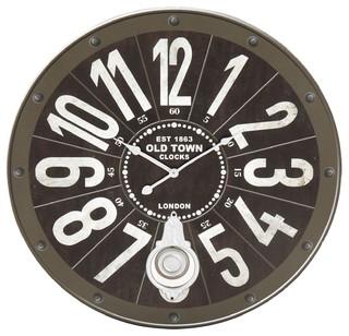 industry pendule d60cm industriel horloge murale par alin a mobilier d co. Black Bedroom Furniture Sets. Home Design Ideas