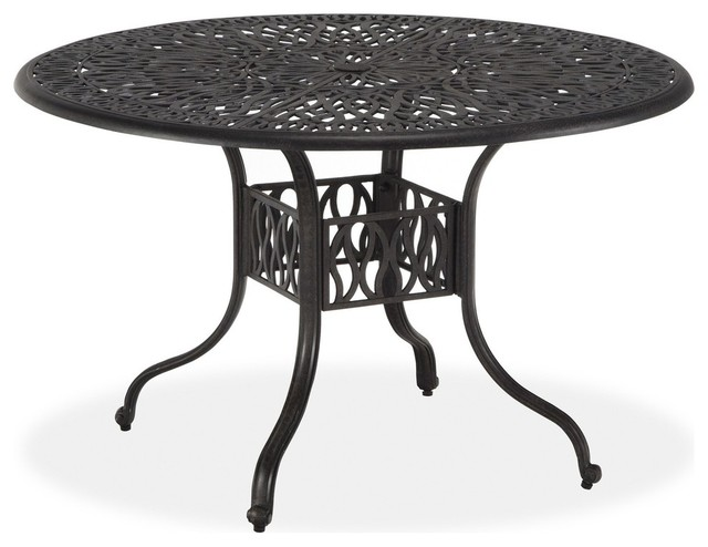 Blossom 48 Inch Round Dining Table Transitional Outdoor Dining Tables