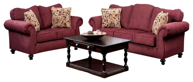 Chelsea home ruthie 2 piece living room set in delray for Traditional living room furniture stores
