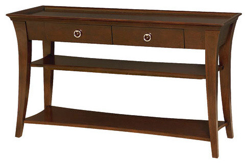 Hammary Umbria Rectangular Sofa Table In Rich Warm Cherry