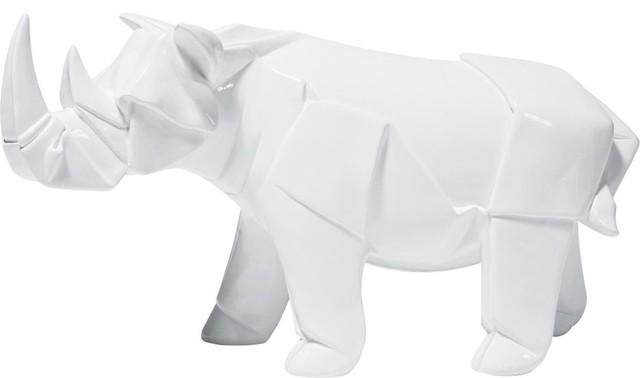 Deko figur origami rhino modern dekofiguren von kare for Dekofiguren modern