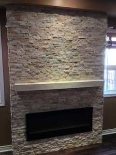 Natural Stone Complemented By Open Cast Shelf