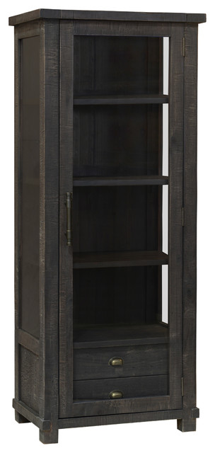 Quincy Curio Cabinet, Espresso - Farmhouse - China Cabinets And Hutches - by Kosas