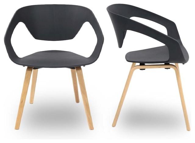 lot de 2 chaises design scandinave danwood couleur noir scandinave fauteuil par. Black Bedroom Furniture Sets. Home Design Ideas