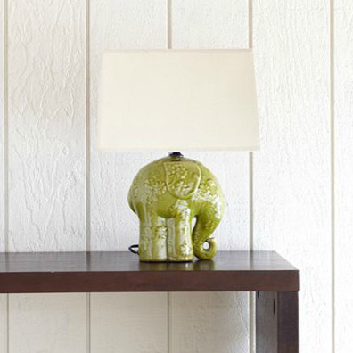 Elephant Ceramic Table Lamp Eclectic Table Lamps By