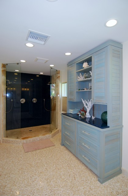 master bath beach style bathroom cabinets and shelves other
