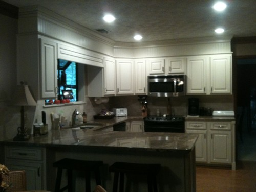 Should I Paint The Other Crown Moulding To Match Cabinets
