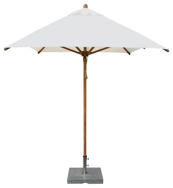 bambrella 6 5 x 10 ft rectangular bamboo market patio umbrella