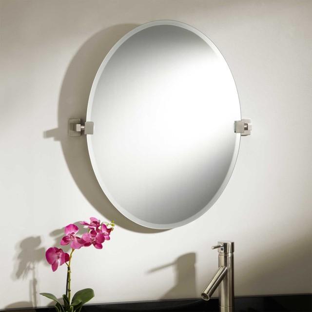 24 helsinki oval tilting mirror modern bathroom mirrors - Wall mounted tilting bathroom mirrors ...