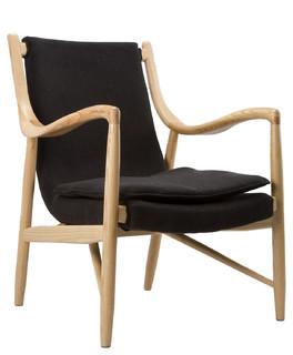Cashmere Conversation Chair Midcentury Living Room