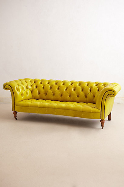 Citrine Chesterfield Sofa - Contemporary - Sofas - by Anthropologie