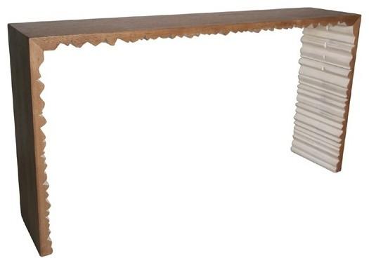 Noir furniture nelson console gcon160 contemporary - Table console noire ...