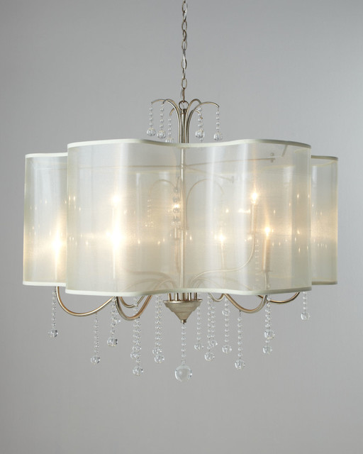 Quatrefoil Nine Light Shaded Chandelier