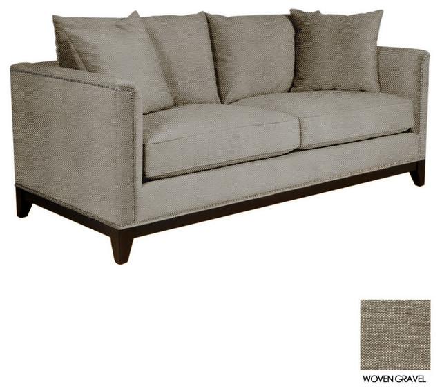 La brea studded sofa woven gravel contemporary sofas for Studded sofa