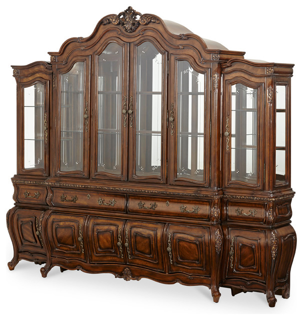 AICO Lavelle Mellange China Cabinet with Piers - Victorian - China Cabinets And Hutches - by ...