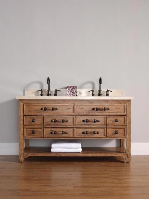 60 malibu double sink vanity tropical bathroom for Bathroom vanities in san diego