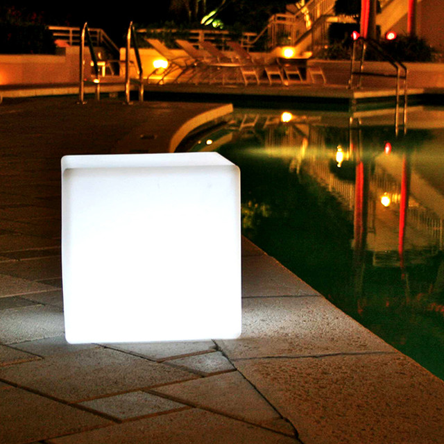 Cube 14 Outdoor Portable LED Lamp Smart Green Modern Outdoor Li