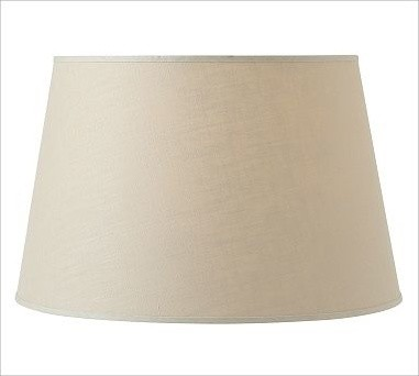 Linen Tapered Drum Lamp Shade Extra Large Bisque