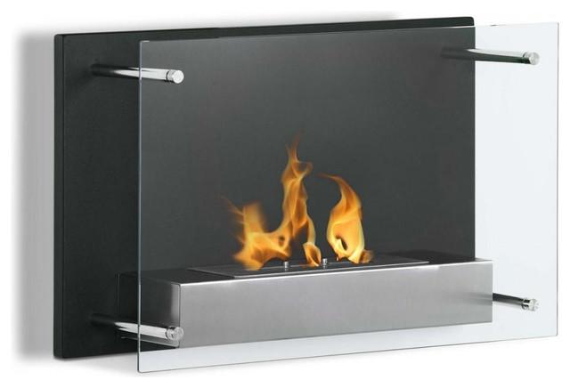 Senti Wall Mounted Ventless Ethanol Fireplace Modern