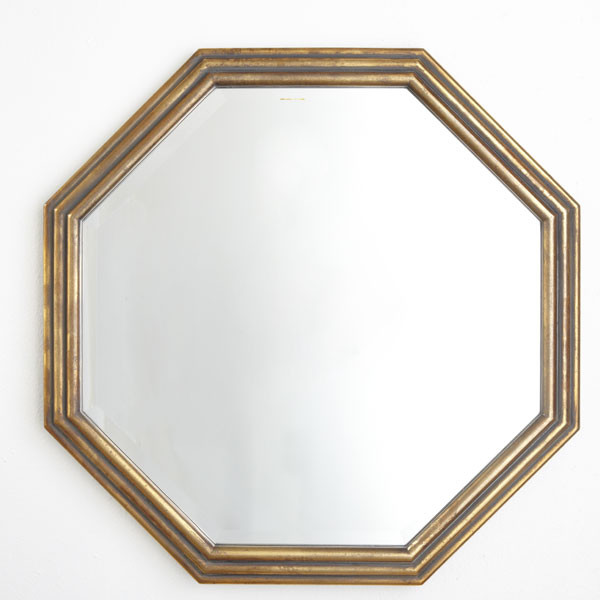 Gilded octagon mirror traditional by wisteria for Octagon beveled mirror