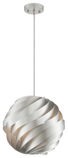 Possini euro design silver waves 13 3 4 wide pendant for Possini lighting website