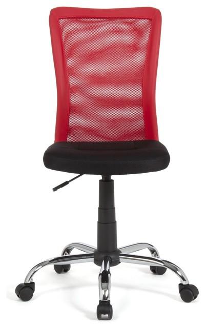 mia chaise de bureau dactylo rouge contemporain chaise. Black Bedroom Furniture Sets. Home Design Ideas