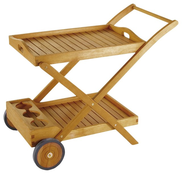 Wooden Patio Serving Carts ~ Aland wooden portable drinks trolley contemporary