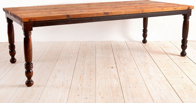 Bonnin Ashley Custom Farm House Table made from American reclaimed timber M