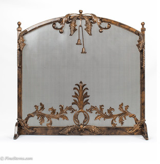 Custom Iron Tassel Fireplace Screen Traditional Fireplace Screens Chicago By Finestems