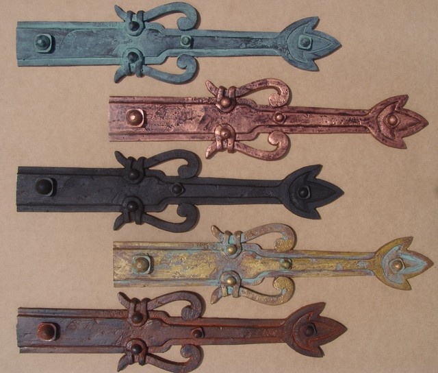 Decorative hinges and straps