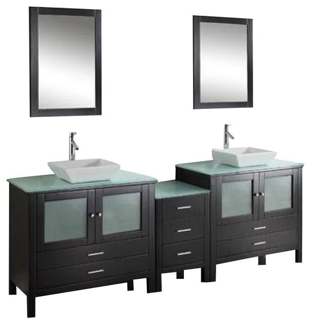 90 Inch Double Sink Bathroom Vanity: Virtu USA 90 Inch Double Bathroom Vanity