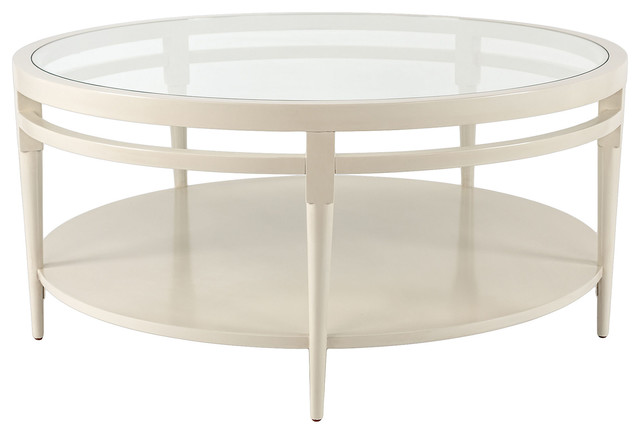 Sydney round coffee table cream contemporary coffee for Coffee tables sydney