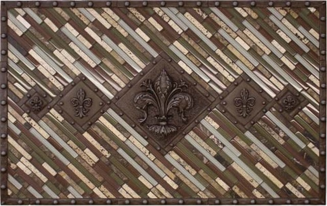 mosaic tile backsplash medallion 24 x36 traditional floor meda