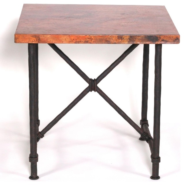 Burlington end table with 24 x24 square top rustic for Square wrought iron coffee table