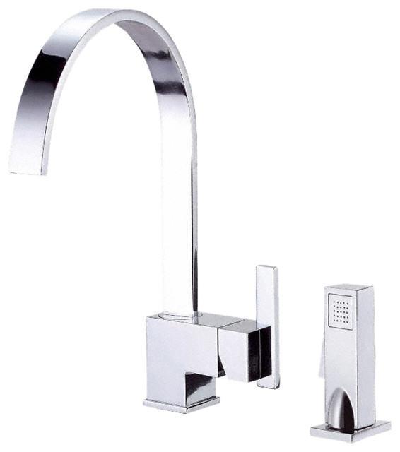 danze d401544 one handle kitchen faucet w spray chrome. Black Bedroom Furniture Sets. Home Design Ideas
