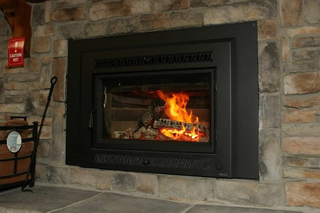 Wood fireplace insert modern atlanta by the Contemporary wood fireplace insert