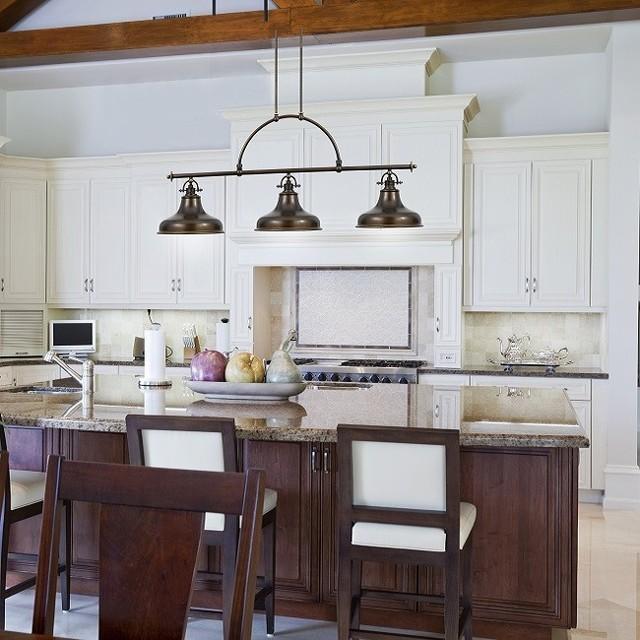 Houzz Kitchen Lighting: Emery 3 Light Island Light Palladian Bronze