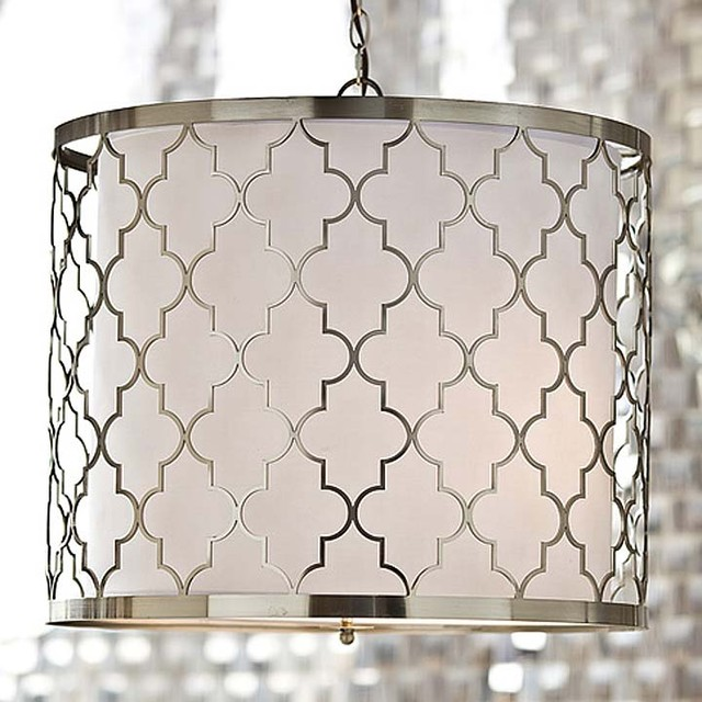 Brushed Nickel Kitchen Island Pendant Light Fixture Dining: Regina Andrew Brushed Nickel Patterned Fixture