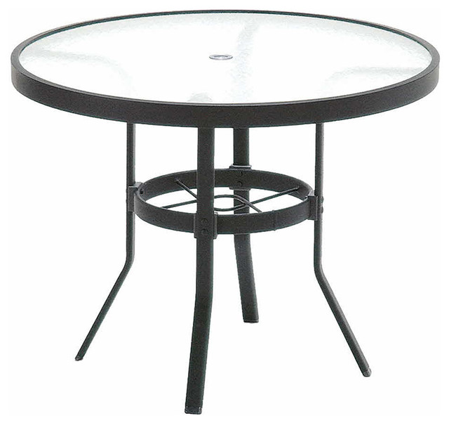 36 Inch Round Glass Coffee Table: Winston Obscure Glass Aluminum 36 Round KD Coffee Table