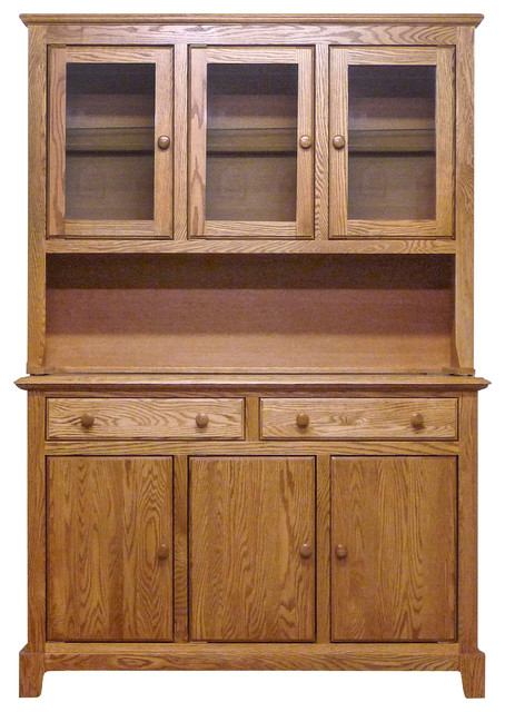 Shaker Buffet and Hutch, Base Natural Alder farmhouse-china-cabinets-and-hutches