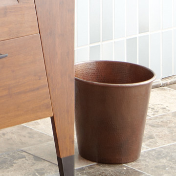 Copper waste bin by native trails traditional wastebaskets san diego by native trails - Copper wastebasket ...