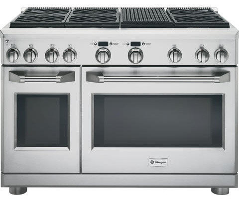 "GE Monogram 48"" All Gas Professional Range with 6 Burners ..."