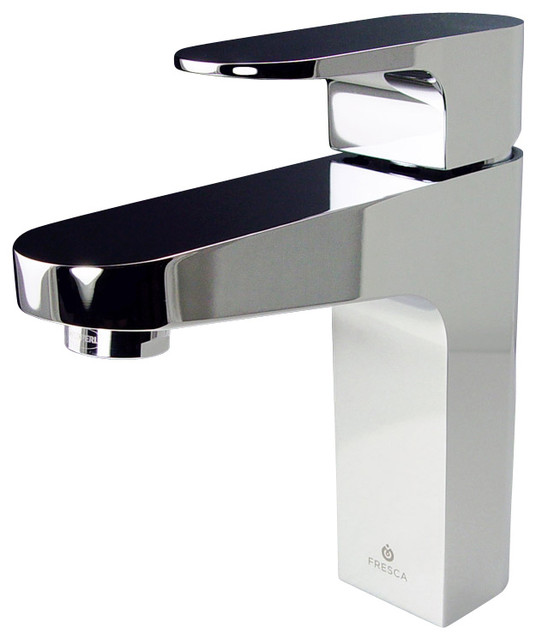 Single Hole Vanity Faucet : ... Single Hole Mount Bathroom Vanity Faucet - Chrome modern-bathroom-sink