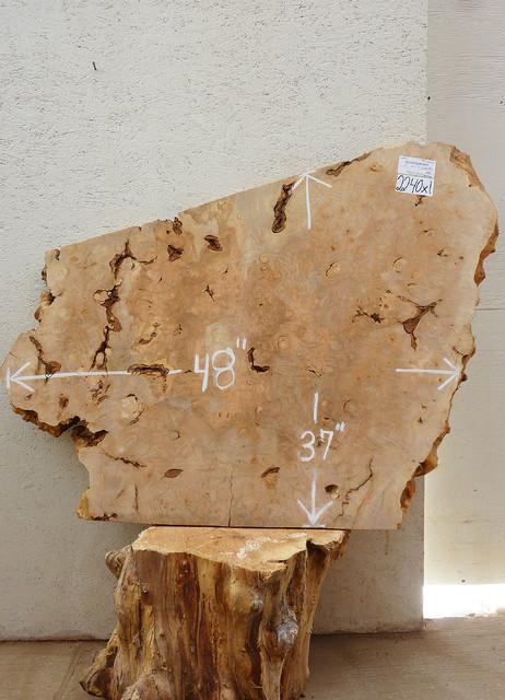 Rustic Burl Wood Bedroom Furniture: 2240x1 Figured Big Leaf Maple Burl