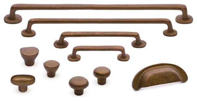 Sedona rustic bronze cabinet hardware - Traditional - Home ...
