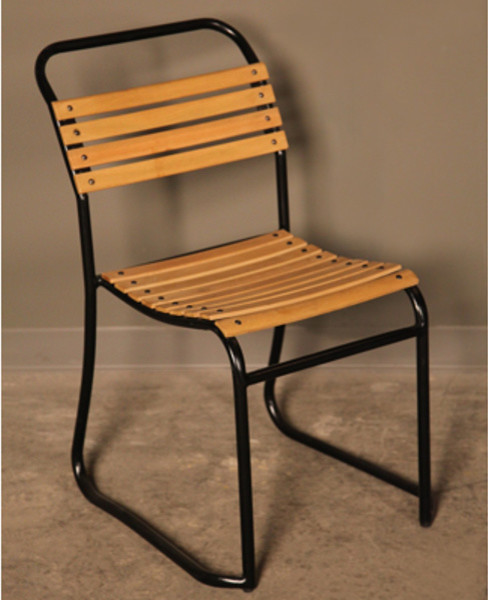 BoBo Intriguing Objects Wood Slatted Chair Powder Coated