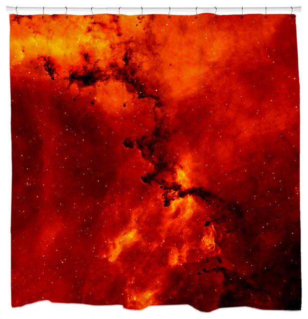 Rosette nebula shower curtain contemporary shower for Nebula fabric uk