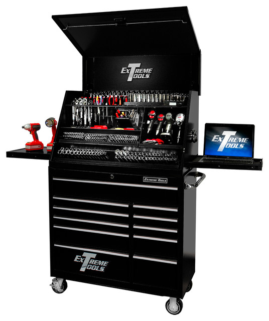... Cabinet, Textured Black - Contemporary - Garage And Tool Storage - by
