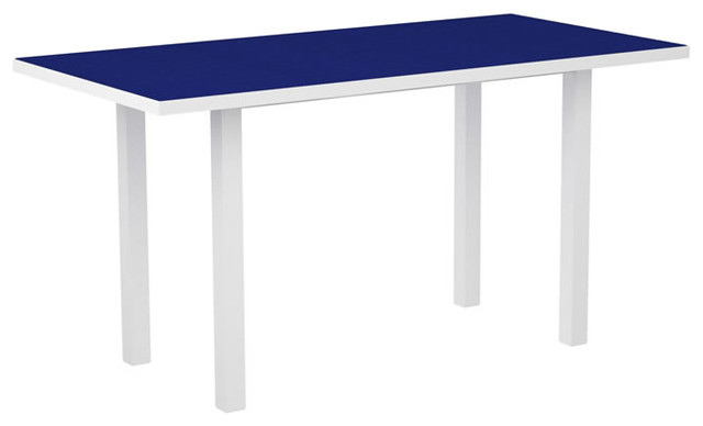 """Table Height 36: Euro 36"""" X 72"""" Counter Height Table By Polywood, White"""